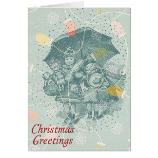 Winter und Handschuhe Weihnachtskarte Karte