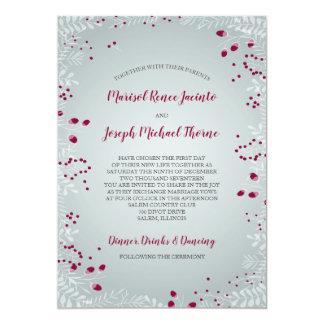 Winter verzweigt sich Hochzeits-Einladung Karte