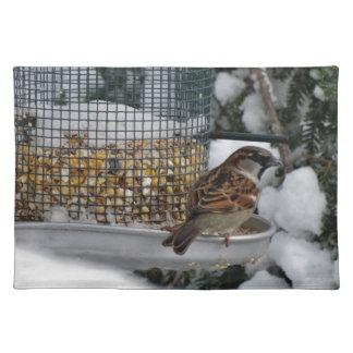 Winter-Vogel Stofftischset
