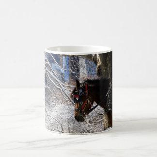 Winter-Wagen-Pferd Kaffeetasse