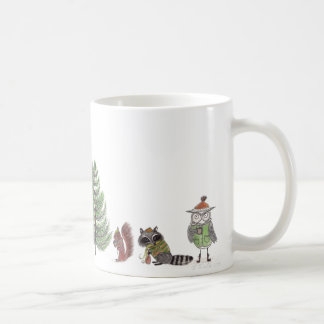 Winter-Waldland Kaffeetasse