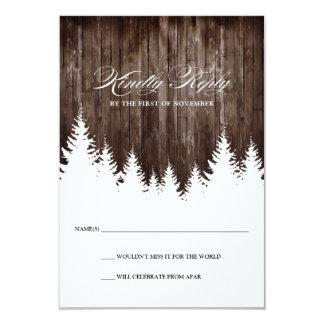 Winter Wedding rustikale hölzerne Warte-UAWG Karte