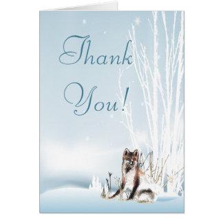 Winter-Wolf-Hochzeit danken Ihnen Karte