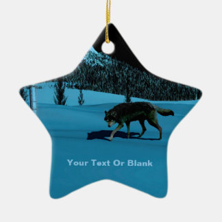 Winter-Wolf - Tapetum Lucidum Keramik Ornament