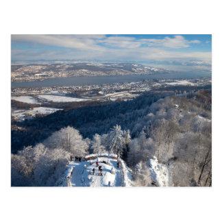 Winter Zürichs die Schweiz Postkarte