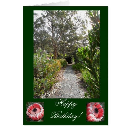 Wintergarten-Geburtstags-Karte Karte