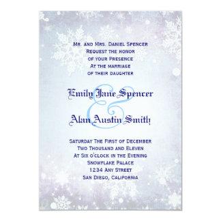 Winterliche blaue Hochzeits-Einladung 12,7 X 17,8 Cm Einladungskarte