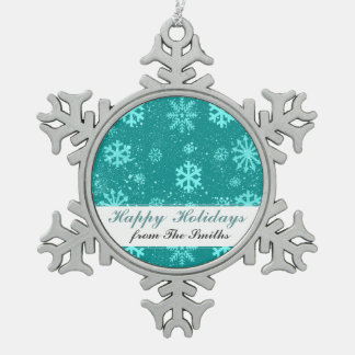 Winterliche Schneeflocken Zinn-Ornament