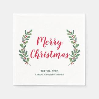 Wintersprigs-Weihnachtscocktail-Serviette Serviette