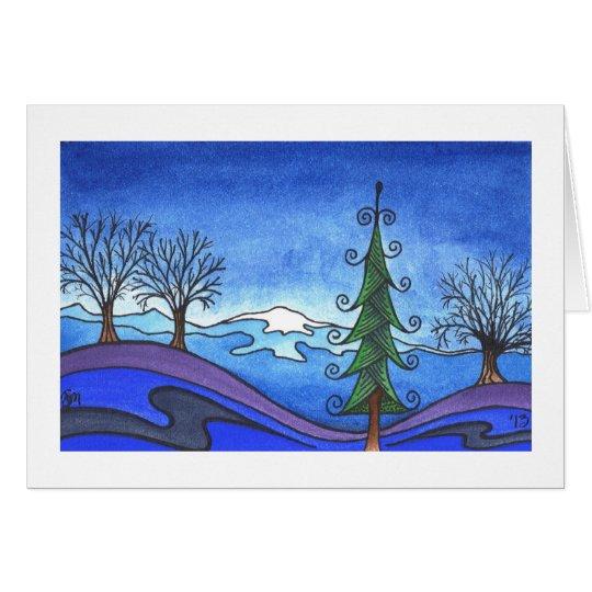 """Winterurlaub-/Weihnachtskarte, """"Winter-Morgen """" Karte"""