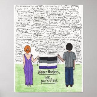 Wir bestanden (asexuales) 11x14 fort poster