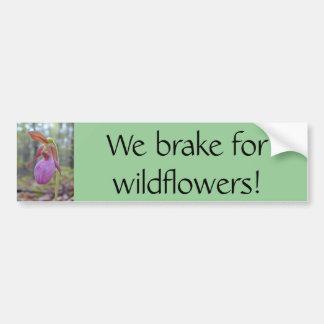 Wir bremsen für Wildblumen! Autoaufkleber