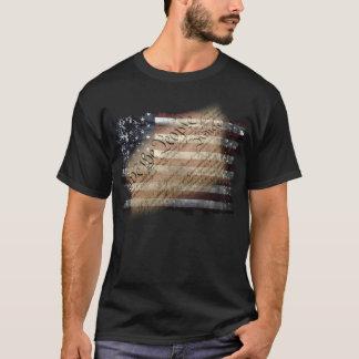 Wir das Leute-Vintage amerikanische Flaggen-Shirt T-Shirt