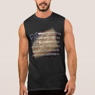 Wir das Leute Vintage USA-Flaggen-Sleeveless Shirt