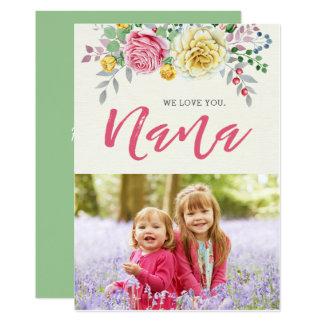 Wir der Foto-Mutter Liebe-Sie Nanas | flache Karte