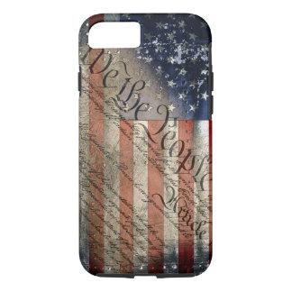 Wir der Leute-Vintage amerikanische Flagge iPhone iPhone 8/7 Hülle