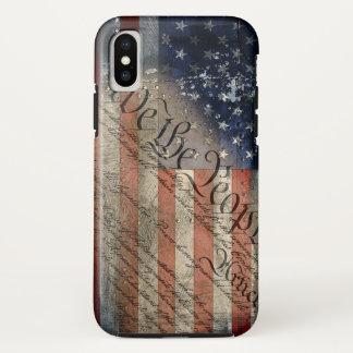 Wir der Leute-Vintage amerikanische Flagge iPhone iPhone X Hülle