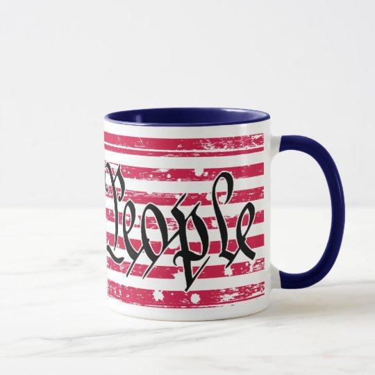 Wir die Leute-amerikanische Flaggen-Tasse Tasse