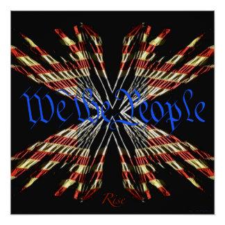 Wir die Leute - Aufstiegs-patriotisches Poster