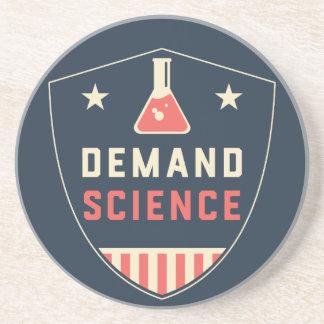 Wir die Leute-Nachfrage-Wissenschaft in Amerika Getränkeuntersetzer