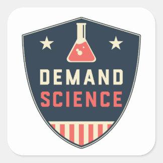 Wir die Leute-Nachfrage-Wissenschaft in Amerika Quadratischer Aufkleber