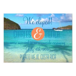 Wir Eloped Hochzeits-Mitteilung/Empfang einladen 12,7 X 17,8 Cm Einladungskarte