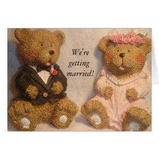 Wir erhalten verheiratet! Karte