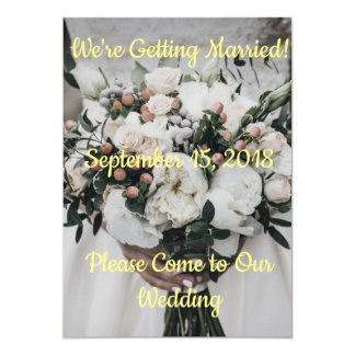 Wir erhalten verheiratete Einladung Karte