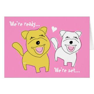 Wir erhalten verheirateten Karte Westie Hund