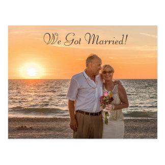 """Wir erhielten verheiratete"""" Hochzeits-oder Postkarte"""