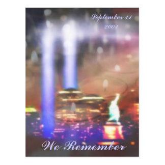 Wir erinnern uns an am 11. September 2001 Postkarte
