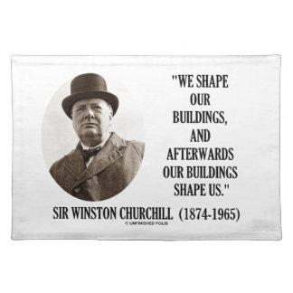 Wir formen Gebäude-danach Gebäude Churchill Tischsets