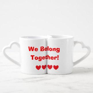"""""""Wir gehören zusammen! """"Die Tassen-Set des Liebhab Herztassen"""