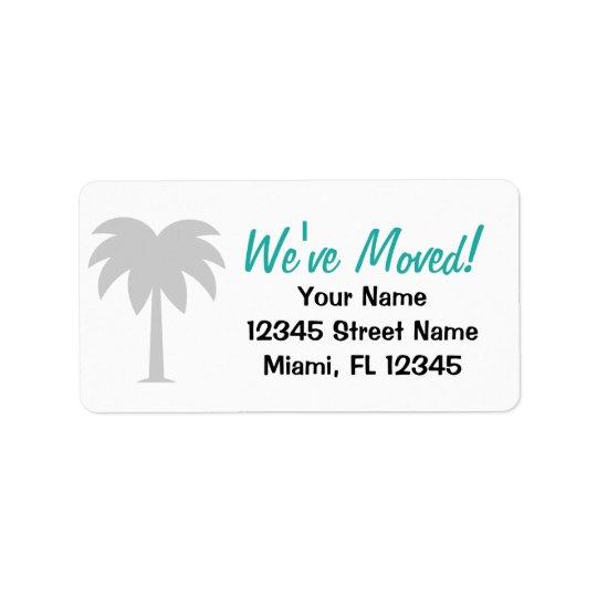 Wir haben Adressenänderung Aufkleber für neues Adressetiketten