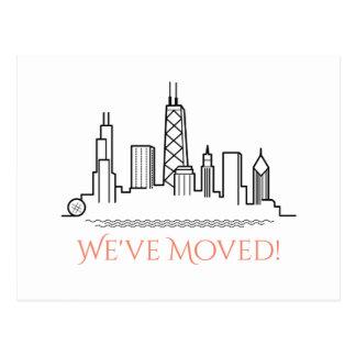 Wir haben Chicago-Stadt-Skyline bewegt Postkarte