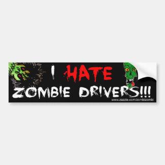 Wir hassen Zombie-Fahrer! Autoaufkleber