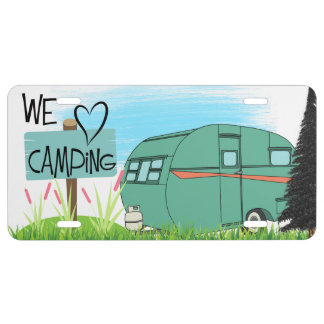 Wir Herz-Campings-Lizenz-Platte US Nummernschild