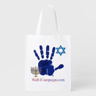 Wir jüdische wiederverwendbare Einkaufstasche R1