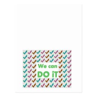 WIR KÖNNEN ES TUN. Positiv streicht Postkarte