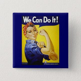 Wir können es tun! quadratischer button 5,1 cm