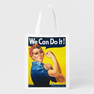 Wir können es tun Rosie der Nieteneinschläger Wiederverwendbare Einkaufstasche