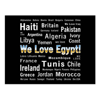 Wir Liebe Ägypten, et al. Postkarte
