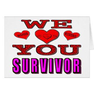 Wir Liebe Sie Brustkrebs-Überlebender Karte