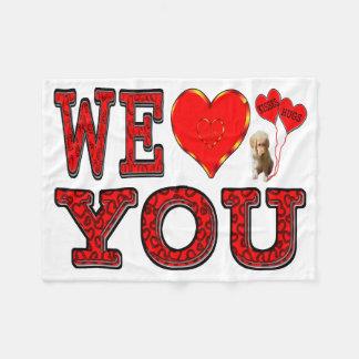 Wir Liebe Sie Fleecedecke