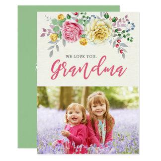 Wir Liebe Sie Foto-flache Karte der Großmutter-|