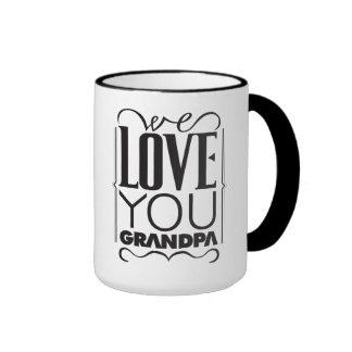 Wir Liebe Sie Großvater Ringer Tasse