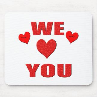 Wir Liebe Sie Mauspad