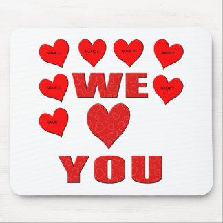 Wir Liebe Sie Mauspads
