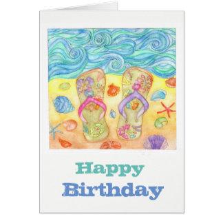Wir Liebestrand! Geburtstagskarte Karte