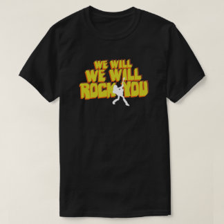 Wir schaukeln Sie Retro 80er Pop-Kultur-Typografie T-Shirt
